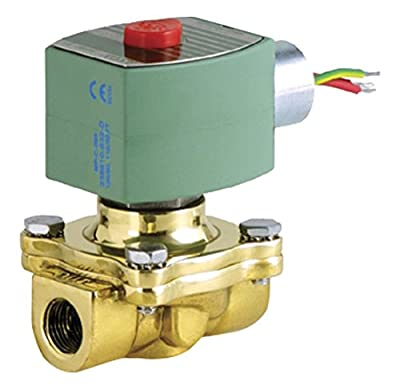 "ASCO 8210G009HW -240/60,220/50 Brass Body Hot Water Pilot Operated Diaphragm Valve, 3/4"" Pipe Size, 2-Way Normally Closed, EPDM Sealing, 3/4"" Orifice, 5 Cv Flow, 240V/60 Hz, 220V/50 Hz by ASCO Valve Inc."