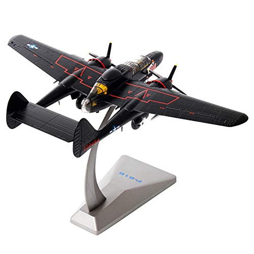 Model plane, Military Airplane Model,1:72 American P-61 Black Widow Model,Diecast Airplane,for Home/Office/Showcase Collection or Kids Birthday gift