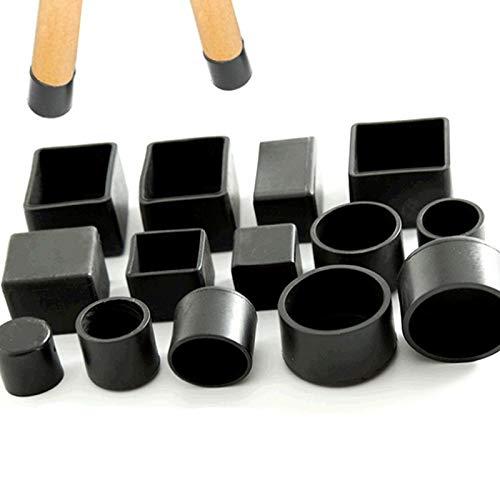 JINAN 4pcs / set Silla Negro Leg Caps protector de los pies de ratón Muebles Mesa Cubre Pies Calcetines Casquillos de enchufe protector contra el polvo de muebles de nivelación