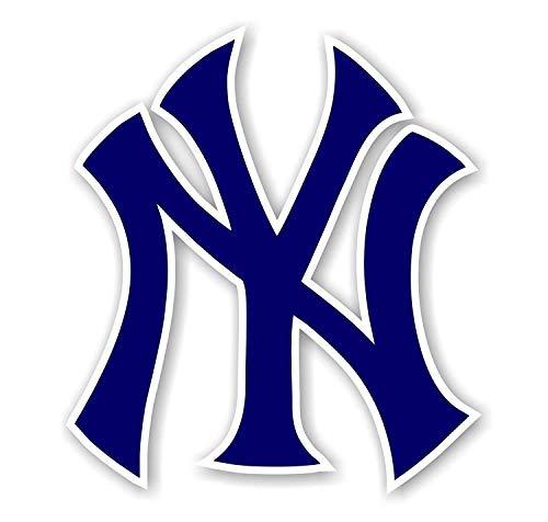 Logo New York Yankee Blue Vinyl Decal //Any Size// Sport Bumper Sticker Indoor/Outdoor (3