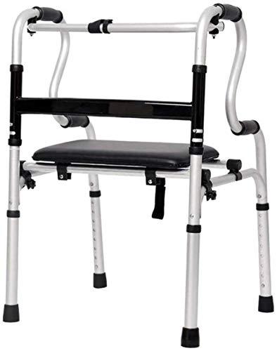 SHANCL Compacta recorrer Mayor Movilidad Auxilios for sillas de Ruedas - con Asiento de aleación de Aluminio de la Ducha de Asiento de Inodoro
