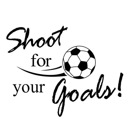XCWQ Muurstickers schieten voor je doelen voetbal voetbal afneembare sticker muursticker wooncultuur sport behang woonkamer sticker
