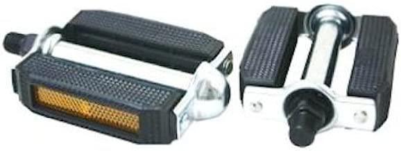 "Vintage Style Square Bicycle Pedal Block PVC Cruiser Pedals 9//16/"" Black//Chrome"
