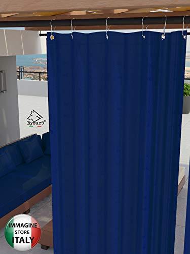 Toldos para Exteriores con Anillos Colgantes Tejido antimoho Impermeable Tejido de algodón Recubierto de Resina Toldo para Balcones Terrazas Gazebos Caravanas tamaño Maxi ( Azul resinado<190> x280cm)
