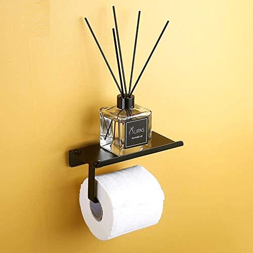 ZJN-JN Tissue Holder for Bathroom Toilet Paper Holder Black Holder with Shelf roll Creative Paper Dispenser Tissue Boxes Bathroom Mobile Phones