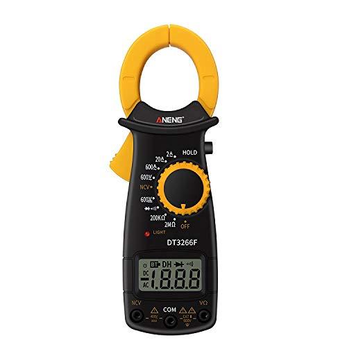 origin デジタルクランプメーター 電流測定器 AC/DC両用 デジタルマルチメーター クランプ式非接触計 電流計 電圧計 電子テスター 抵抗試験器 テストリード付 MMDT3266