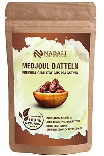 NABALI FAIRKOST FÜR ALLE Medjool Medjoul Datteln aus Palästina - 100% naturell vegan aromatisch traditionell frisch & orientalisch I ohne Konservierungsstoffe (400)