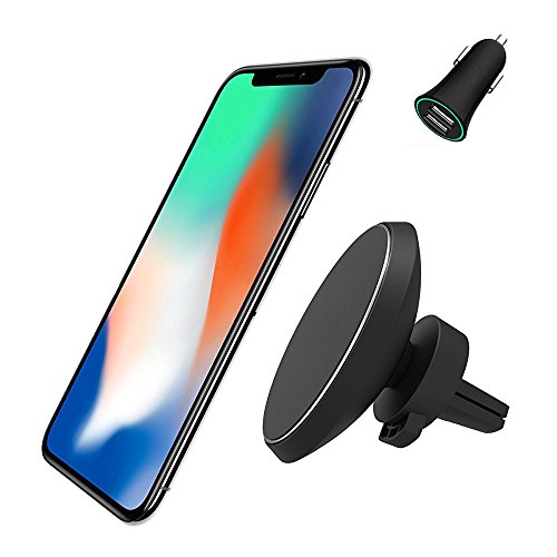 Chargeur magnétique Support Voiture, Neotrix sans Fil Qi Standard Mobile Cell Phone Air Vent Mount...