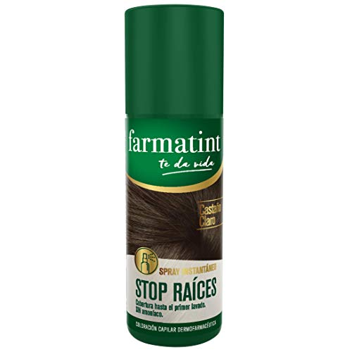 Farmatint Spray Instantáneo Capilar Stop Raíces, Color Castaño Claro - 75 ml