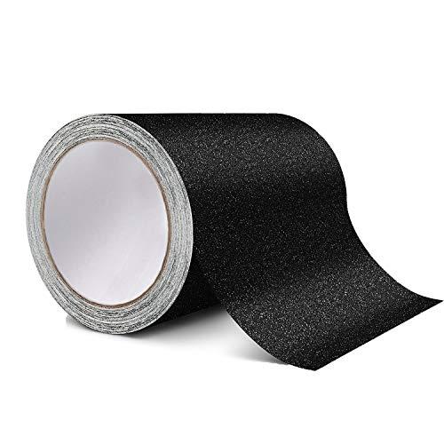 Anti-Rutsch-Griffband, schwarz, hohe Zugkraft, Rutschfeste Unterlage, Starkes Klebeband für Treppen, Treppenstufen, Außen- und Innenbereich, schwarz