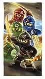 Lego Ninjago Movie Duschtuch Badetuch Handtuch Strandtuch Velourstuch 70 x 140cm Lloyd Kai Zane