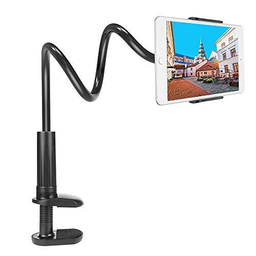 EasyULT Handyhalter Desktop Ständer Schwanenhals, Universal 360 Grad drehbar Halterung Verstellbarer und Abnehmbarer Handy Halter Tablet Halterung Ständer für 3.5-10.5 Zoll Tablet/Smartphones,Schwarz