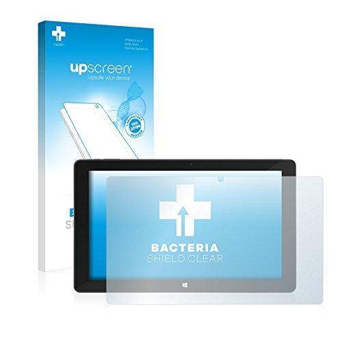 upscreen Antibakterielle Schutzfolie kompatibel mit TrekStor SurfTab Duo W2 klare Bildschirmschutz-Folie