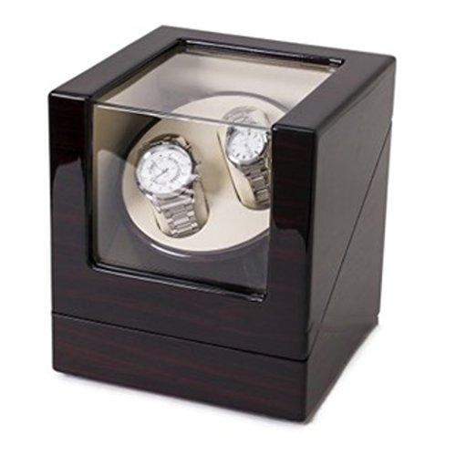 Caja Giratoria Relojes Watch Winder Cabina de seguridad Watch Winder Mini especialmente diseñada para mesa de batido, piano, laca, caja de cinco mesas rotativas. Caja de Reloj ( Color : 2+0B )