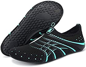 BARERUN Adult Swim Water Shoes Quick Dry Non-Slip for Girls Boys Blue 8.5-9.5 M US Women / 7-7.5 M US Men