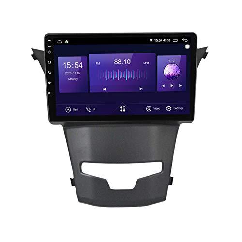 Navegador satelital para automóvil para unidad principal Ssangyong Actyon 9 pulgadas 2 DIN Radio para automóvil Bluetooth Carplay Soporta GPS USB SD FM AM RDS SWC Reposacabezas Monitor Link,7862,4+64G