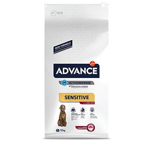 ADVANCE Sensitive - Croquettes pour Chien Adulte Medium-Maxi pour Sensibilités Digestives et Cutanées avec Agneau et Riz - 12kg
