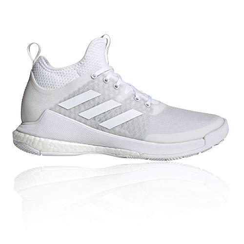 adidas Damen Crazyflight Mid Sneaker, Ftwbla/Ftwbla/Ftwbla, 43 1/3 EU