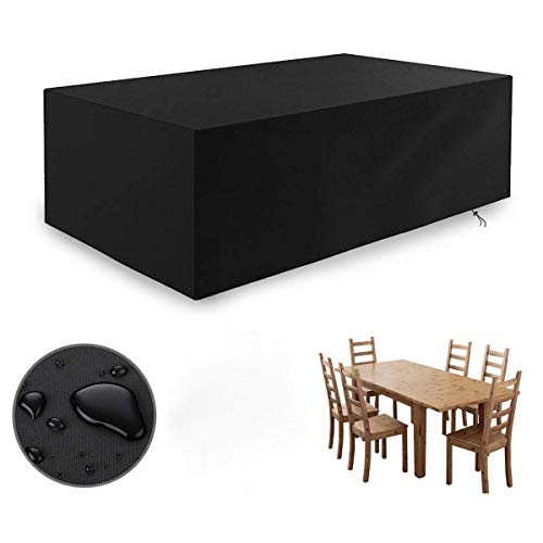 ADEPTNA Heavy Duty water resistant Garden Outdoor Patio Furniture Cover with Storage Case – Protects Your Table and Chair All Year Round From The Weather Dirt and Grime (170CM X 94CM X 70CM)