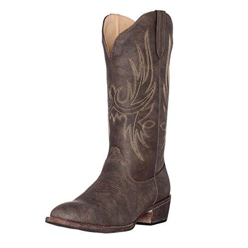 Silver Canyon Damen Cowboy-Stiefel, Cimmaron, runder Zehenbereich, Braun (braun), 39 EU