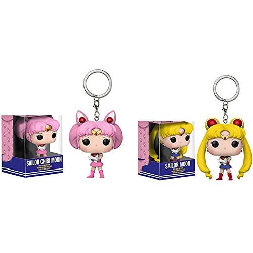 2 Piezas Figuras Pop Lindo Bolsillo Sailor Moon Y Sailor...