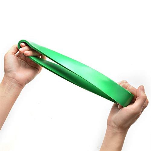 SDFDS Widerstandsband, natürlicher Latex-Expander-Kraft-Yoga-Gummi-Ring-Fitness-elastische Band-Übungsgeräte 114 (Color : Green)