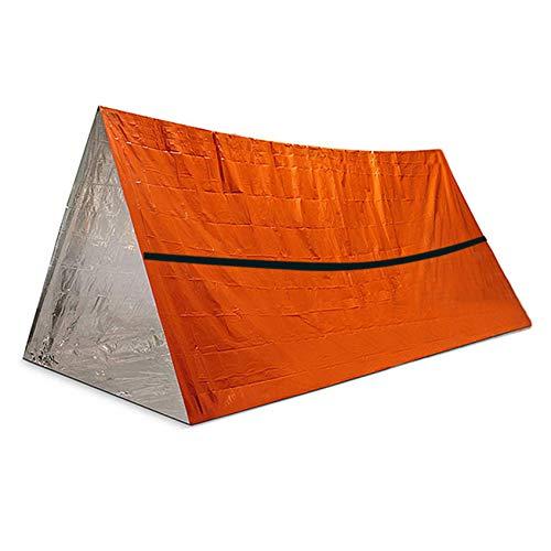 Manta de emergencia simple para tienda de campaña, saco de dormir desechable de polietileno de aluminio, saco de dormir para tienda de campaña para exteriores, adecuado para camping, montañismo (ent)