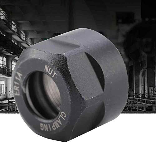 Broca de sujeción, soporte de mandril de tuerca de sujeción de pinza de 1 Uds duradero multiusos para torno de soporte de mandril de mandril de fresado CNC(black, M14*0.75 ER11A)