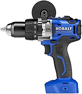 Kobalt 1/2-in 24-Volt Max-Volt Lithium Ion (Li-ion) Variable Speed Brushless Cordless Hammer Drill Bare Tool Only (Tool Only, Model #kdd524b-03)