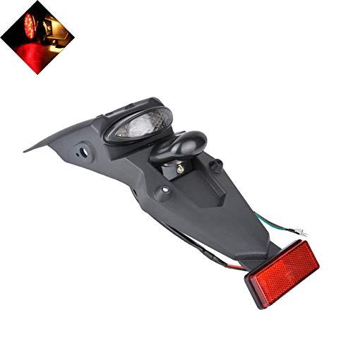 NATGIC Feu arrière pour Moto avec Clignotant - Clignotant - Lentille Rouge