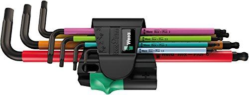 Preisvergleich Produktbild 950 SPKL / 7B SM Multicolour Magnet Winkelschlüsselsatz,  metrisch,  BlackLaser,  7-teilig,  Wera 05022534001