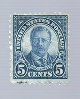 United States (1) 5 Cent Roosevelt 1922-1929 Series Stamps