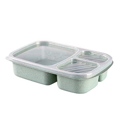 YNSNWBD Caja de almuerzo plegable caja de almuerzo contenedor de almacenamiento de alimentos microondas portátil Picnic camping rectangular caja al aire libre