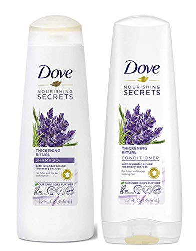 Dove Nourishing Rituals Haircare - Thickening Ritual - Shampoo & Conditioner Set - Net Wt. 12 FL OZ (355 mL) Per Bottle - One Set