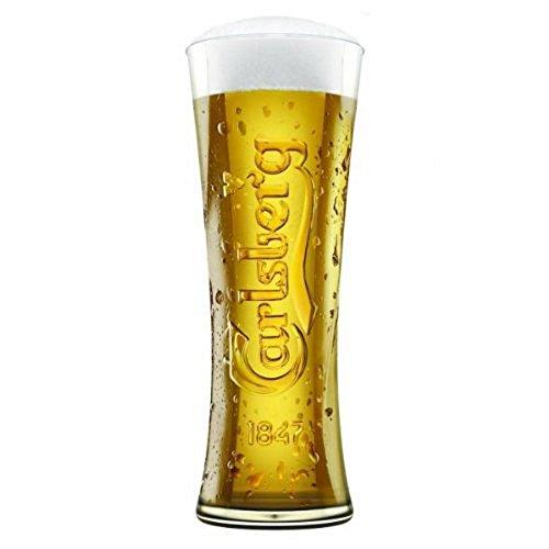 Carlsberg - Bicchiere da pinta in vetro, 0,5 l