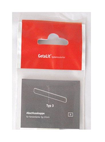 Abschlußkappe für Fensterbänke, InStyle-Blende Type 3 Eisgranit VE1 ca. 2,4 cm breit