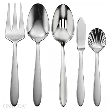 Oneida Mooncrest Flatware 5 Piece Serve Set