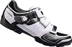 SHIMANO Unisex Adult SH-M089W Cycling Shoes - Road Bike, White (White), 45 EU