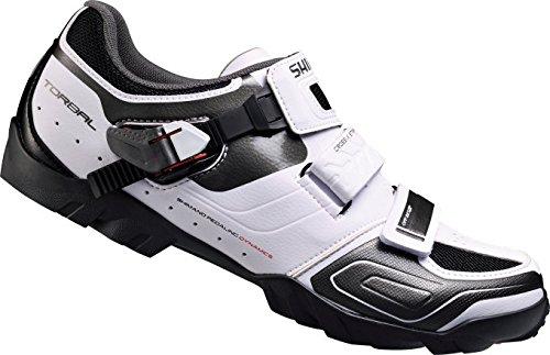 Shimano Sh-m089, Zapatos de Bicicleta de Montaña Hombre, Blanco, 42 EU