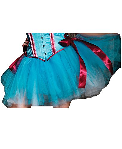 Leg Avenue Layered Duel Color Petticoat Skirt, One Size, Turquoise