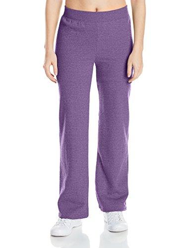 Hanes womens ComfortSoft EcoSmart Women's REGULAR Open Bottom Leg Sweatpants Violet Splendor Heather Small