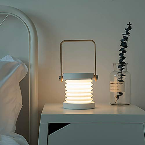 SHENLIJUAN 3D luz de la Noche al Aire Libre Portable de la lámpara LED lámpara de Escritorio USB Recargable Lámparas de luz de la Linterna Creativa (Color : Turquoise)
