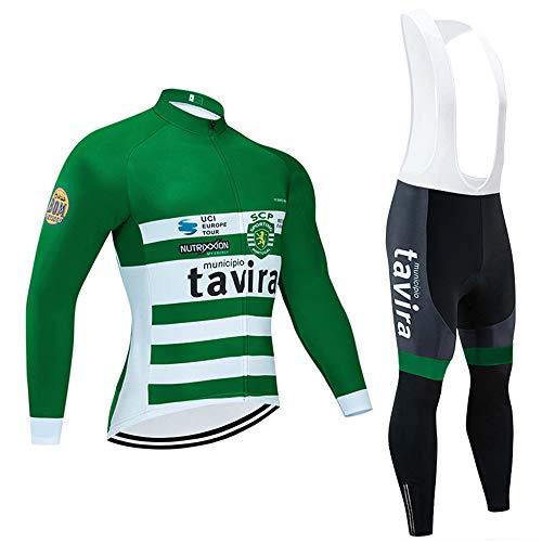 Conjunto Ropa Equipacion Traje Ciclismo Hombre para Respirable Maillot Ciclismo Hombre y Pantalones Bicicleta Maillot Ciclismo Hombre