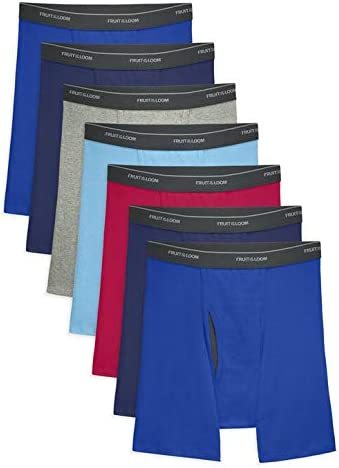 Fruit of the Loom Boys' Boxer Brief (Pack of 7) (Large, Fabric Covered Waistband (Comfortsoft))