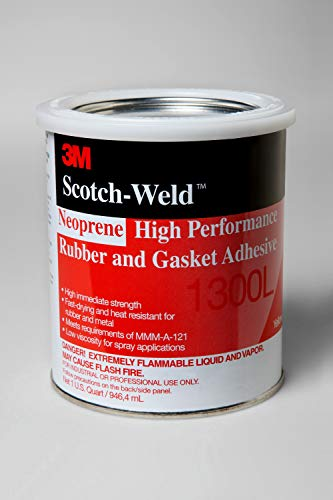 3M Neoprene High Performance Rubber and Gasket Adhesive 1300L, Yellow