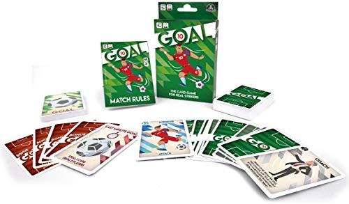 GOAL 10, gioco di carte per la famiglia e gli amici sul calcio, da 2 a 5 giocatori, 65 carte, gioco da tavolo da 7 anni, DEC01