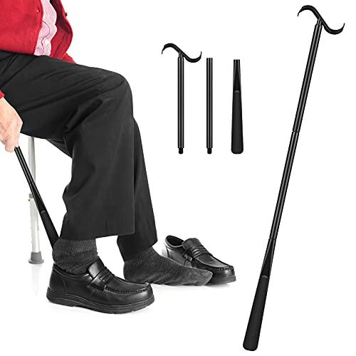 Victop Shoe Horns Bastone da spogliatoio con manico lungo, per rimuovere calzini, regolabile e allungato, disabili, sostituzione del ginocchio e problemi alla schiena