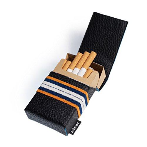 FLAPCASE N°1 • KARATE • Designer Zigarettenetui, Made in Austria, Gummiband, Leder vegan Zigarettenbox für 19, 20, 21 Packungen, regular King-Size