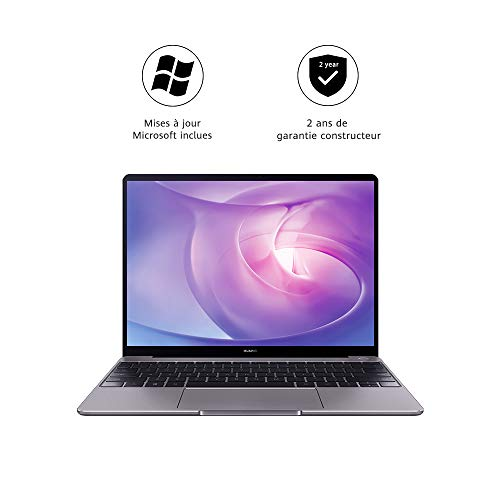 HUAWEI MateBook - PC Portable - 13' écran FullView (Intel Core i5-8265U, RAM 8Go, SSD 256Go, Windows 10 Home, Clavier Français AZERTY) - Gris