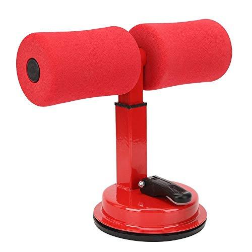 Heitune Crunches Assistent Sit-up-Hilfe-Taille Fettreduktion Haushaltsbauchfitnessgeräte (rot)